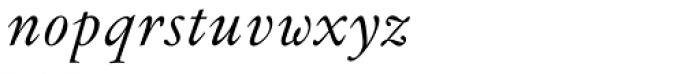 Flanker Garaldus Italic Font LOWERCASE