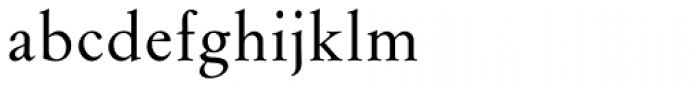Flanker Garaldus Medium Font LOWERCASE