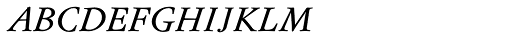Flanker Garaldus Small Caps Italic Font LOWERCASE