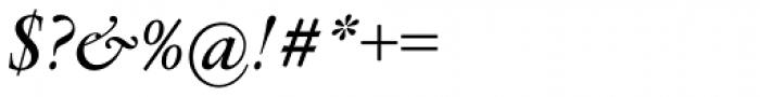 Flanker Garaldus Small Caps SemiBold Italic Font OTHER CHARS