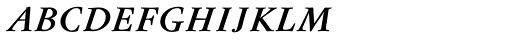 Flanker Garaldus Small Caps SemiBold Italic Font LOWERCASE