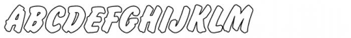 Flash Outline P Bold Font UPPERCASE