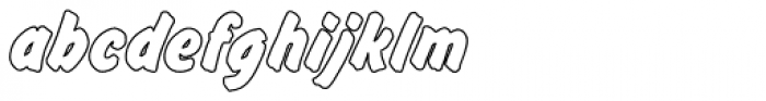 Flash Outline P Bold Font LOWERCASE