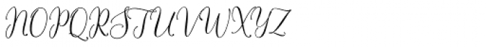 Flash Script Regular Font UPPERCASE