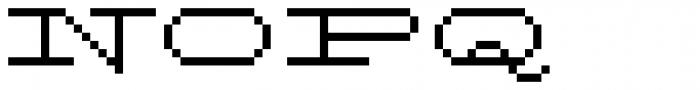 Flat Antique Font UPPERCASE