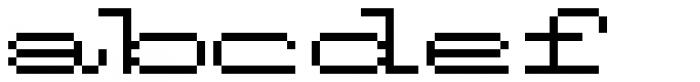 Flat Antique Font LOWERCASE