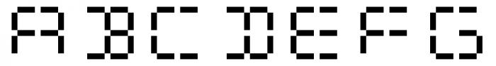 Flat Seg Sixteen Font UPPERCASE