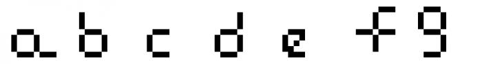 Flat Seg Sixteen Font LOWERCASE
