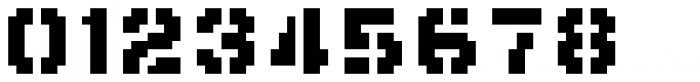 Flat10 Stencil Font OTHER CHARS