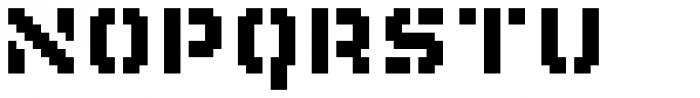 Flat10 Stencil Font UPPERCASE