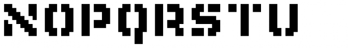Flat10 Stencil Font LOWERCASE