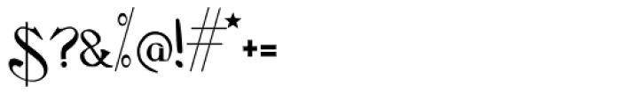 Flaubert Font OTHER CHARS