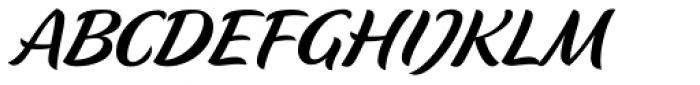 Flavour Semilight Font UPPERCASE