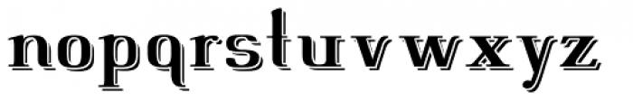 Fleete Shadowed DemiBold Font LOWERCASE
