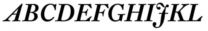 Fleischman BT Pro Bold Italic Font UPPERCASE