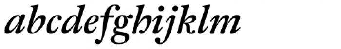 Fleischman BT Pro Bold Italic Font LOWERCASE
