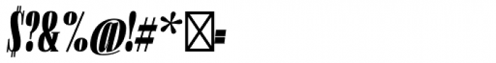 Flenja Ultra Italic Font OTHER CHARS
