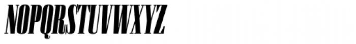 Flenja Ultra Italic Font UPPERCASE