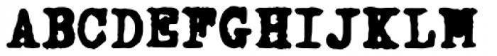 Fletcher Typewriter Black Font UPPERCASE