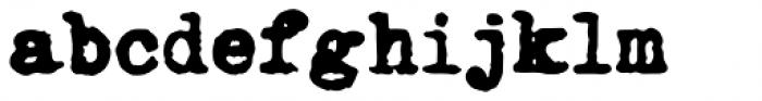 Fletcher Typewriter Black Font LOWERCASE