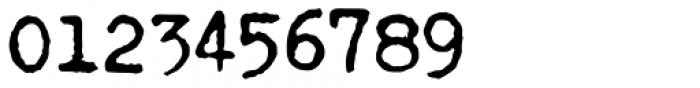 Fletcher Typewriter Bold Jumpy Font OTHER CHARS