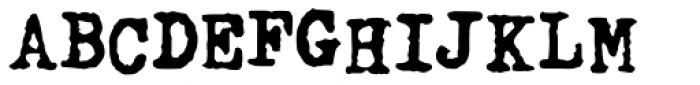 Fletcher Typewriter Bold Jumpy Font UPPERCASE
