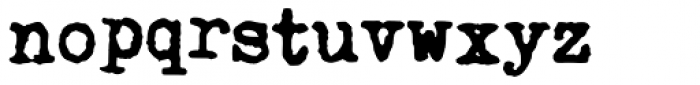 Fletcher Typewriter Bold Jumpy Font LOWERCASE