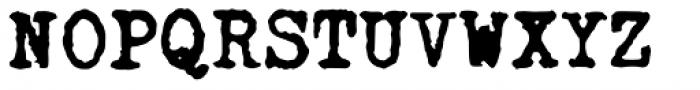 Fletcher Typewriter Bold Font UPPERCASE