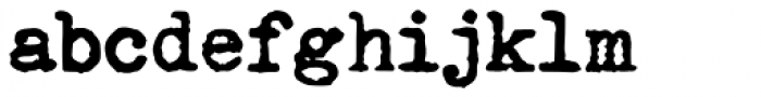 Fletcher Typewriter Bold Font LOWERCASE