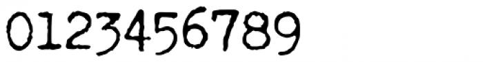 Fletcher Typewriter Regular Jumpy Font OTHER CHARS