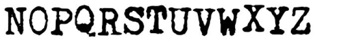 Fletcher Typewriter Regular Jumpy Font UPPERCASE