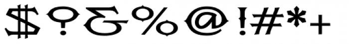 Flexion Pro Medium Font OTHER CHARS