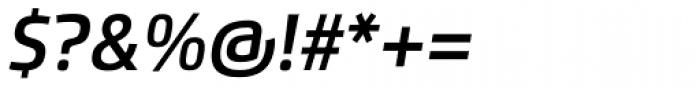 Flexo Demi Italic Font OTHER CHARS