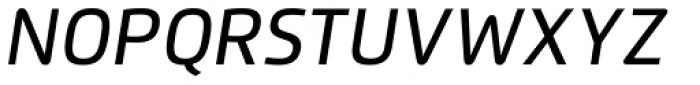 Flexo Medium Italic Font UPPERCASE