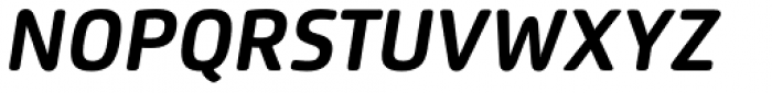 Flexo Soft Bold Italic Font UPPERCASE