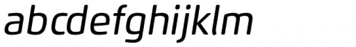 Flexo Soft Medium Italic Font LOWERCASE