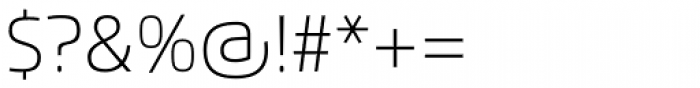 Flexo Thin Font OTHER CHARS