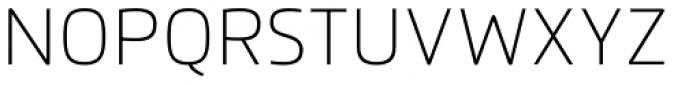 Flexo Thin Font UPPERCASE