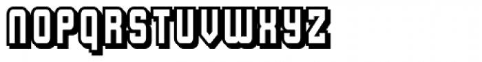 Flim Narrow Shadow Font LOWERCASE