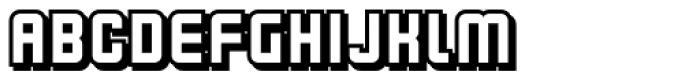 Flim Shadow Font LOWERCASE