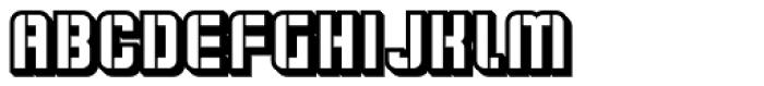 Flim Stencil 3 d Font UPPERCASE