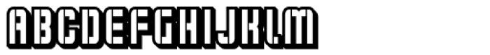 Flim Stencil Narrow 3 d Font UPPERCASE