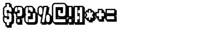 Flim Stencil Narrow Shadow Font OTHER CHARS