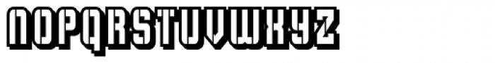 Flim Stencil Narrow Shadow Font UPPERCASE