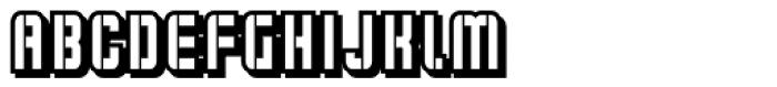 Flim Stencil Narrow Shadow Font LOWERCASE