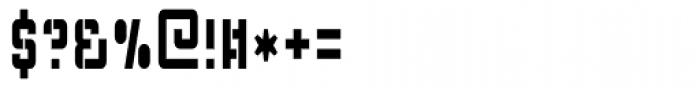 Flim Stencil Narrow Font OTHER CHARS