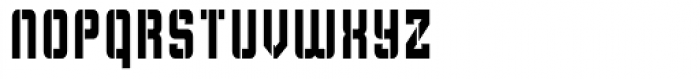 Flim Stencil Narrow Font LOWERCASE