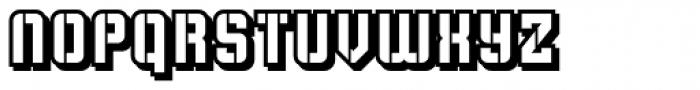 Flim Stencil Shadow Font LOWERCASE