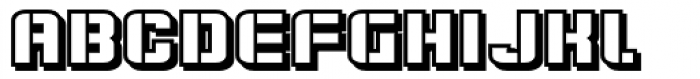 Flim Stencil Wide Shadow Font LOWERCASE