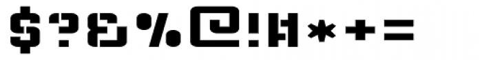 Flim Stencil Wide Font OTHER CHARS